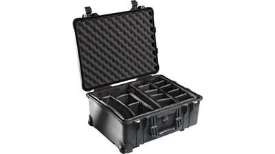 Pelican 1560 Protector Case with Padded Dividers - Black