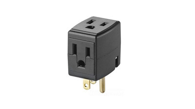 Cube Tap 3-Outlet Cube Adapter - Black