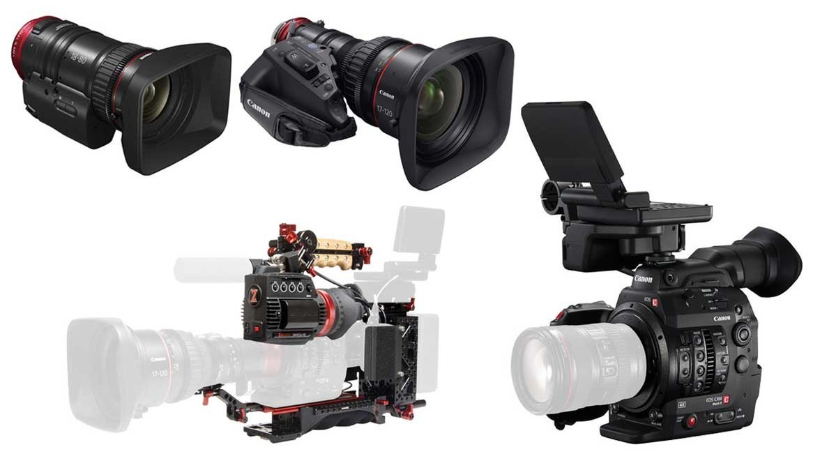 Canon C300 Mk II + 17-120mm Zoom with Zacuto Kit & 18-80mm