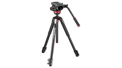Manfrotto MVH502AH Fluid Video Head & MT055XPRO3 Tripod Kit