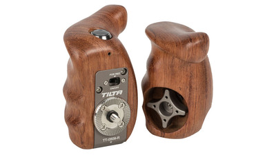 Tilta Wooden Handle Grip Set with Record Start/Stop Remote Trigger