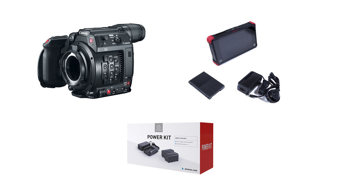 Canon EOS C200 Camera + Atomos Ninja Flame & Power Kit