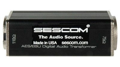 Sescom SES-AES-EBU-2 BNC Female to XLR-M AES/EBU Impedance Transformer
