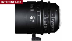 Sigma 40mm T1.5 FF High Speed Prime - Imperial, PL Mount INTEREST LIST