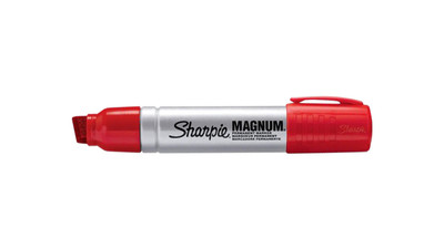Sharpie Magnum Permanent Marker - Chisel Point, Red