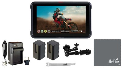 "ATOMOS Ninja V 5"" Monitor/Recorder with VidPro 7"" Magic Arm, Battery, Charger, Lens Cloth, and AbelCine Cable Tie"