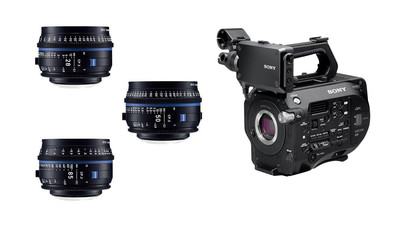 Sony FS7 Mark II & ZEISS CP.3 Compact Prime 3-Lens Bundle - E Mount