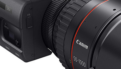 Intro image for article Canon Introduces New CN20x50 50-1000 Cine-Servo Zoom Lens