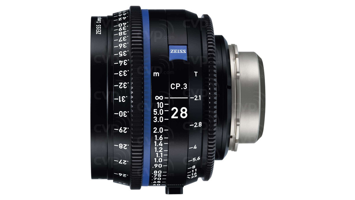 ZEISS CP 3 28mm Compact Prime T2 1 - Metric, EF Mount | Cine Lenses