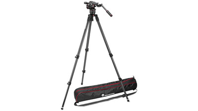 Manfrotto Nitrotech N8 Video Head with CF Single Legs Tripod System - 75mm Half Ball