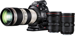 Canon EOS C100 MK II Camera with Dual Pixel CMOS AF & Triple Lens Package