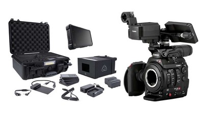 Canon C300 Mk II Touch Focus Kit with ATOMOS Shogun Inferno & Accessory Kit Bundle