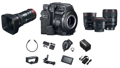 Canon C200 + Prime Lens Bundle & 70-200mm Compact Servo Zoom Bundle