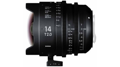 Sigma 14mm T2 FF High Speed Prime - Imperial, EF Mount
