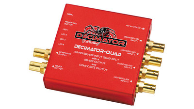 Decimator QUAD 4-Channel 3G/HD/SD-SDI Multiviewer with SDI & Composite Outputs