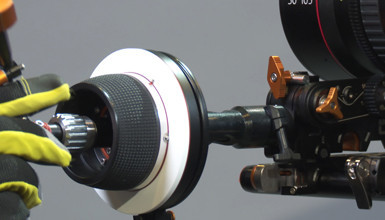 Intro image for article At the Bench: Bright Tangerine Revolvr Follow Focus
