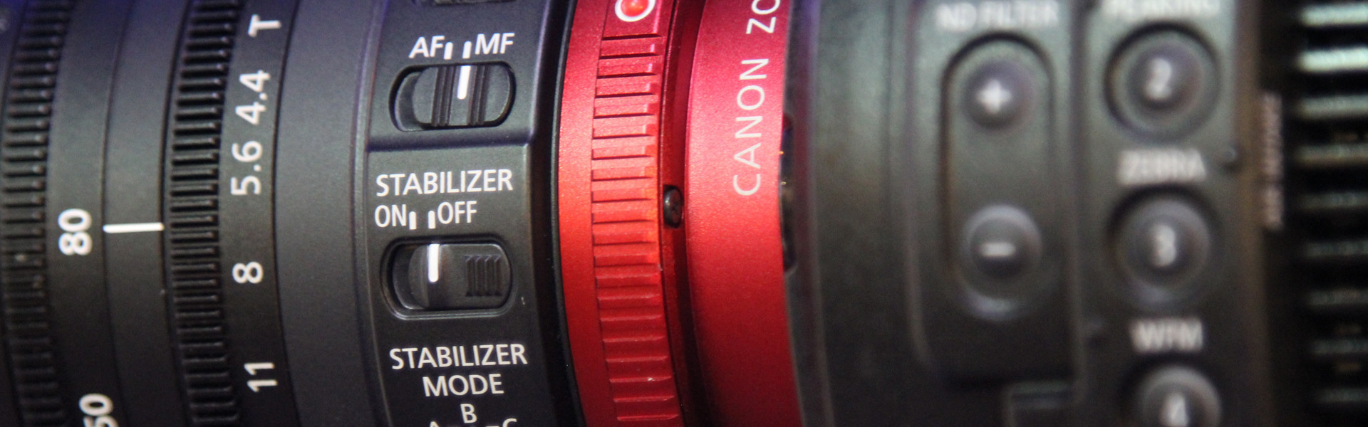 Header image for article Lenses and Accessories for the Canon C300