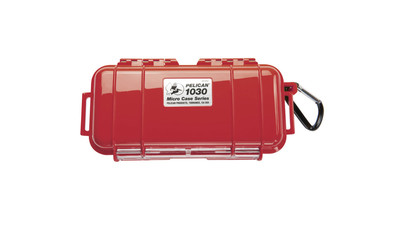 Pelican 1030 Micro Case - Solid Red with Black Lining
