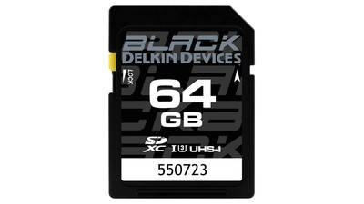 Delkin 64GB SDXC BLACK UHS-II V60 U3 Speed Rating Memory Card