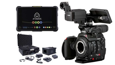Canon C300 Mk II Touch Focus Kit + ATOMOS Shogun Inferno Monitor/Recorder & Accessory Kit Bundle