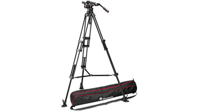 Manfrotto Nitrotech N12 Video Head with Twin Leg Tripod Middle Spreader System - 100mm Half Ball