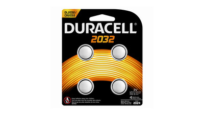 Duracell 2032 3V Lithium Medical Battery (4-Pack)
