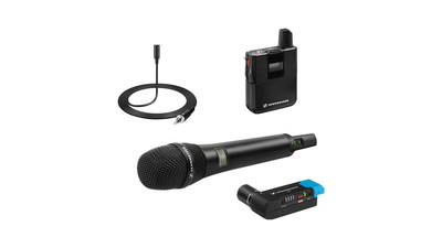 Sennheiser AVX Combo Set with Camera-Mountable Digital Wireless Handheld Microphone and Lavalier