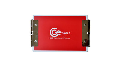 CGE Tools Double-Clip Clipboard - Red
