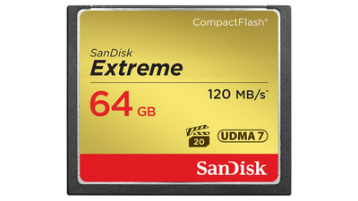 SanDisk Extreme CompactFlash Memory Card - 64GB