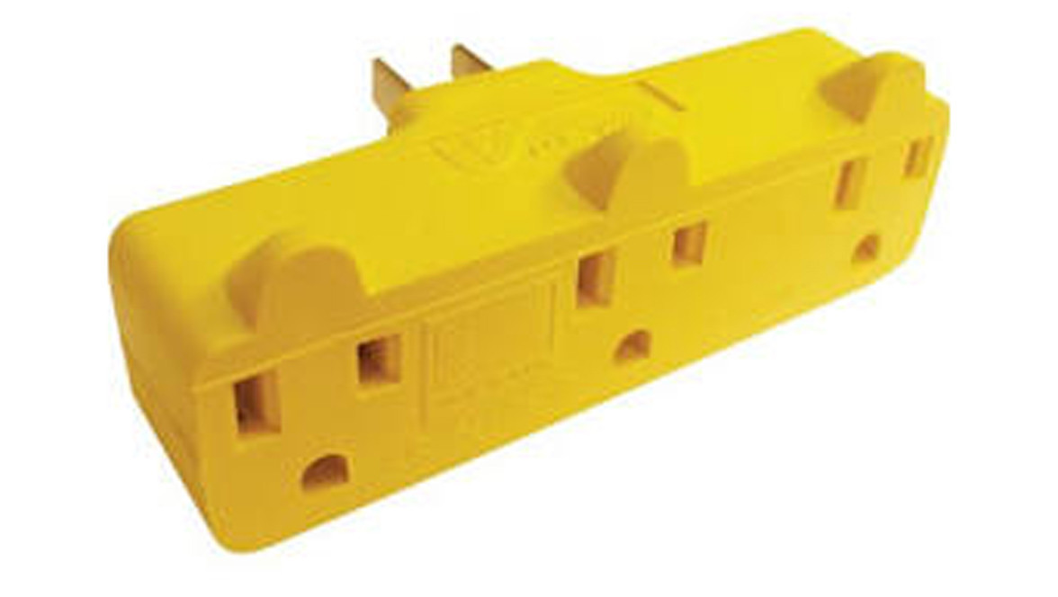 Prime Wire & Cable PBAD0100 3-Outlet Adapter - Yellow   Batteries ...