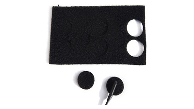 Rycote Undercovers - Black (100 Pack with Stickies)
