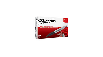 Sharpie Permanent Marker - Twin Tip, Black (12-Pack)