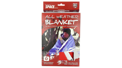 Grabber Outdoors All Weather Space Blanket - Red