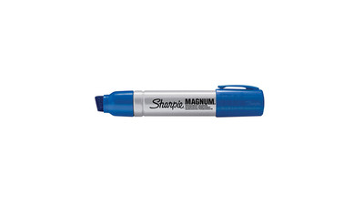 Sharpie Magnum Permanent Marker - Chisel Point, Blue