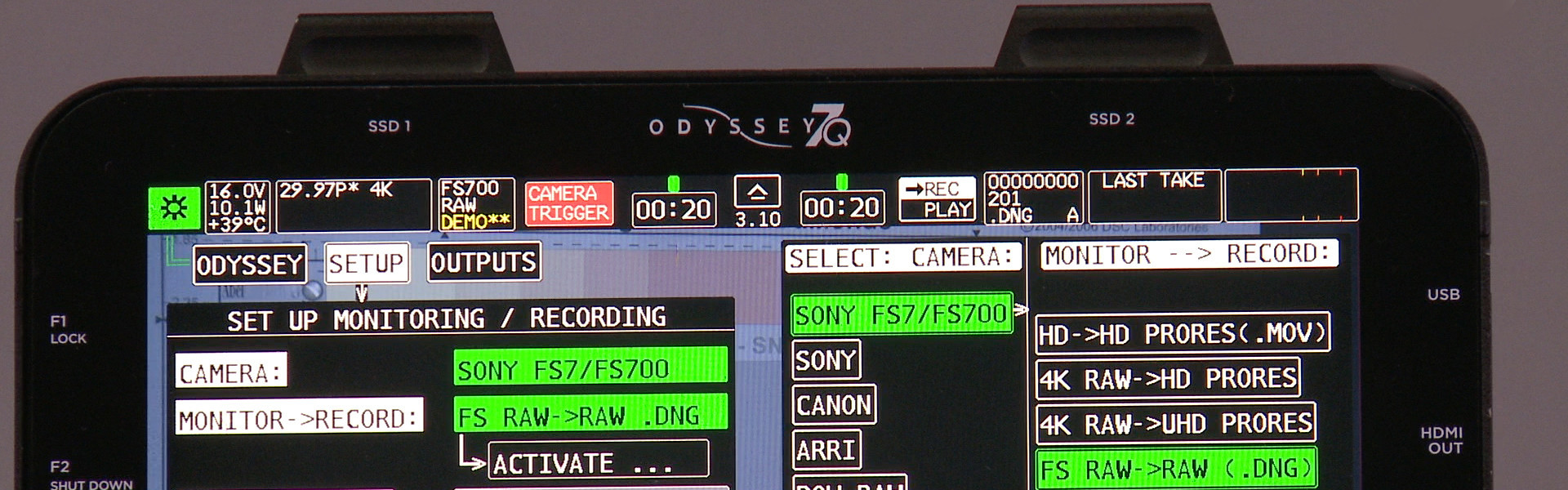 Header image for article At the Bench: Sony FS700 & HXR-IFR5 RAW Recording