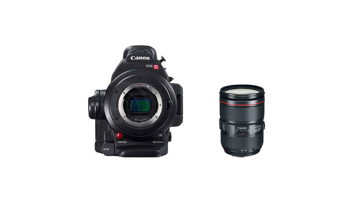 Canon EOS C100 Mk II with Dual Pixel CMOS AF & 24-105mm f/4 L IS II