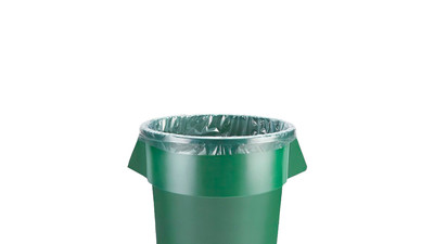 Uline 44-55 Gallon Trash Liners - 1.5 Mil, Clear (10-Pack)