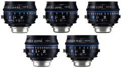 ZEISS CP.3 XD 5-Lens Set (15mm, 25mm, 35mm, 50mm, 85mm) - PL Mount